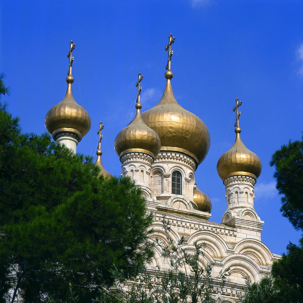 Russian Church, Mount of Olives, Jerusalem, Israel, Middle East