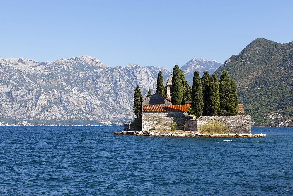 St. George's Island, Bay of Kotor, UNESCO World Heritage Site, Montenegro, Europe