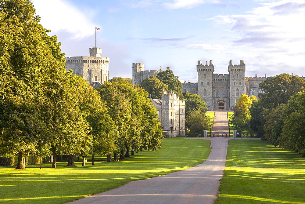 The Long Walk with Windsor Castle in the background, Windsor, Berkshire, England, United Kingdom, Europe - 10-424