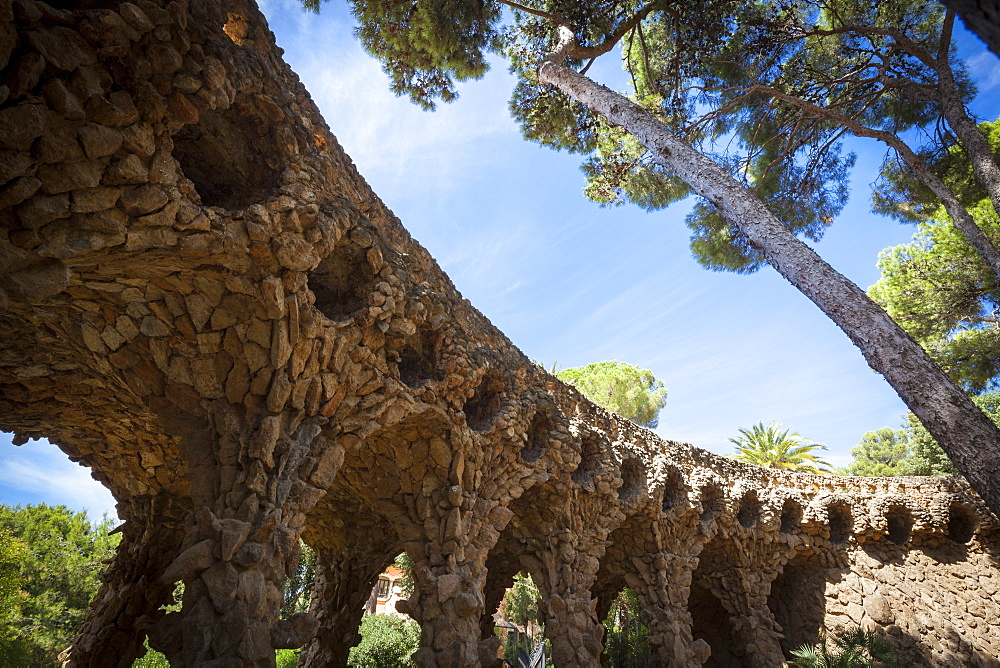 Parc Guell, UNESCO World Heritage Site, Barcelona, Catalonia, Spain, Europe - 10-459