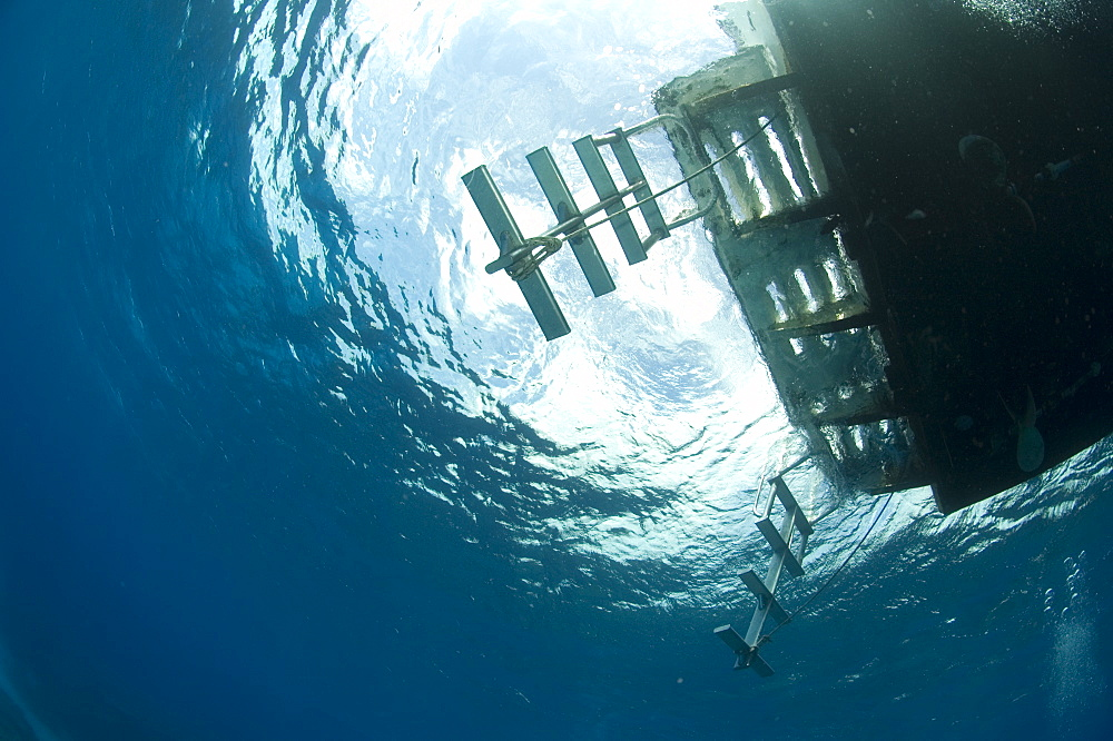 Underwater view of a boat. Compasspoint, Caymans. - 1022-71