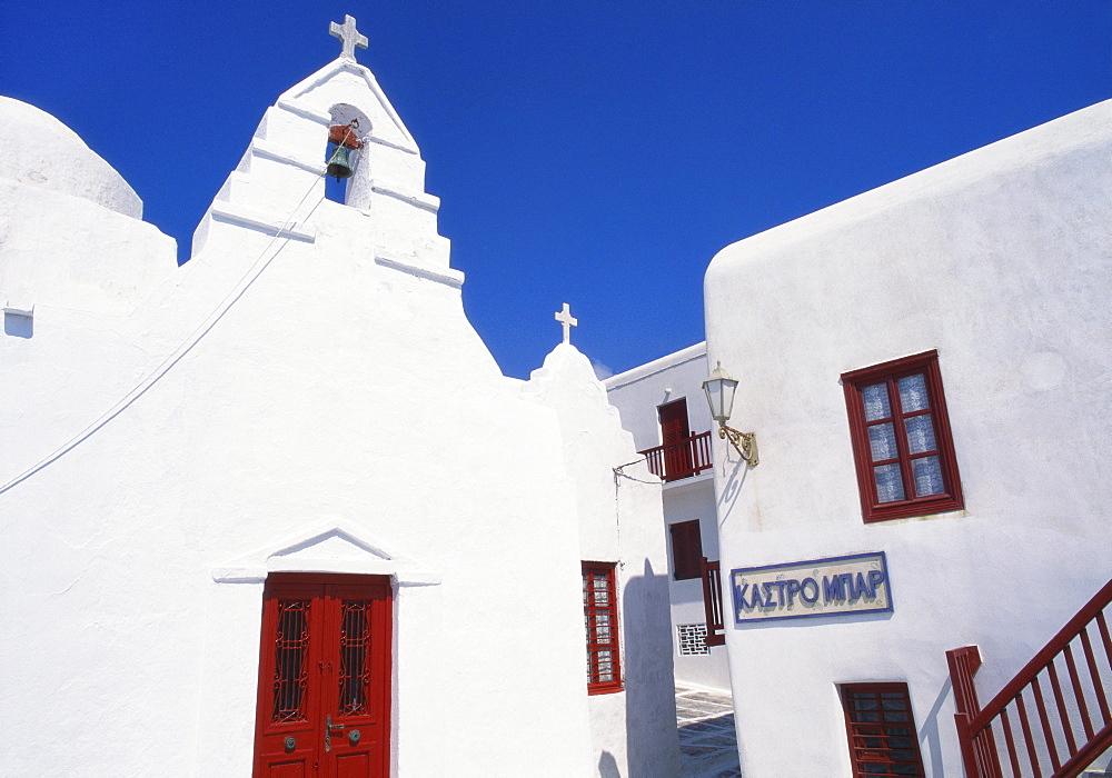 Exterior of a Church, Mikonos, Cyclades, Greece