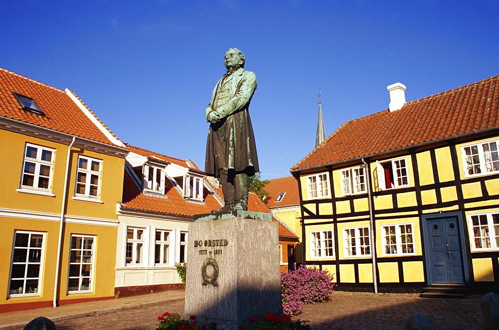 Statue of H. C. Orsted, Rudkobing, Langeland, Denmark, Scandinavia, Europe - 110-20091