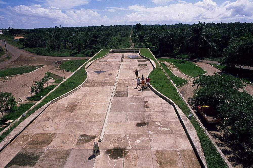 Marco zero, the line of the Equator, Macapa, Brazil, South America