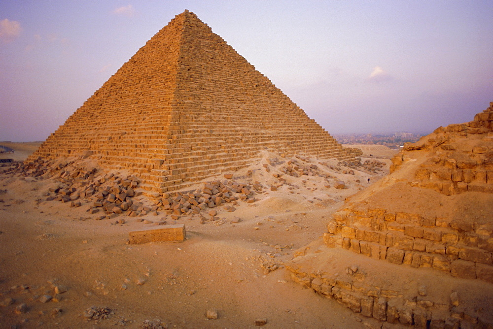 Pyramid of Micerinus, Giza, Egypt, North Africa