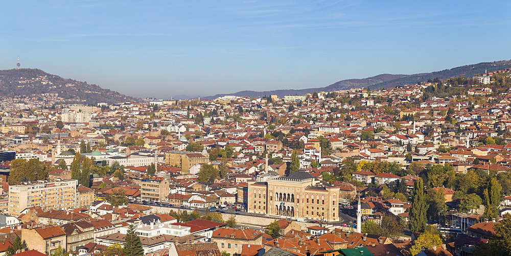 View of Sarajevo City, Sarajevo, Bosnia and Herzegovina, Europe