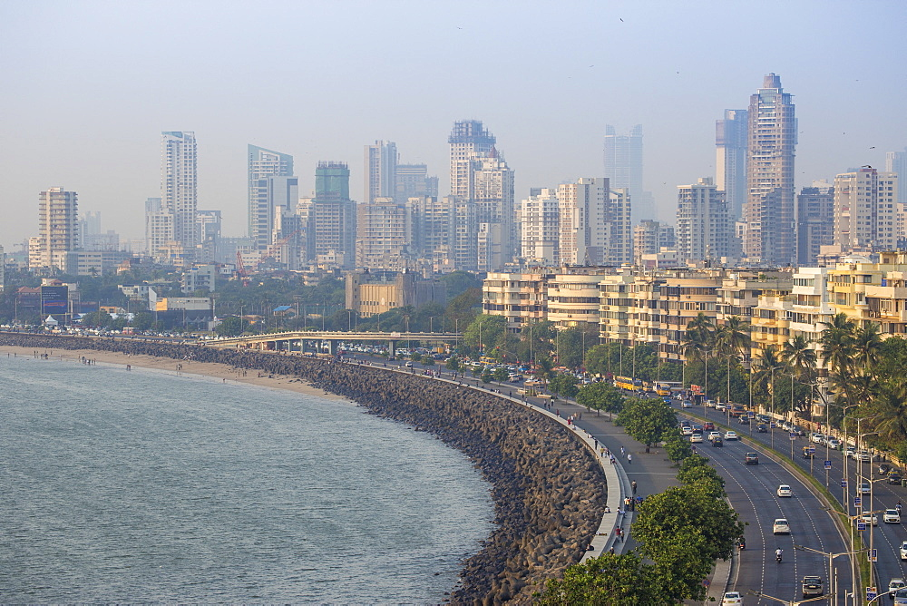 View of Marine Drive, Mumbai, Maharashtra, India, Asia - 1104-1019