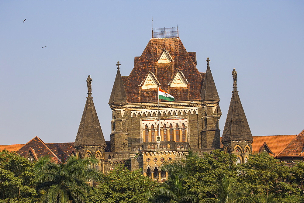 Oval Maidan and Bombay High Court, Fort Area, Mumbai, Maharashtra, India, Asia - 1104-1026