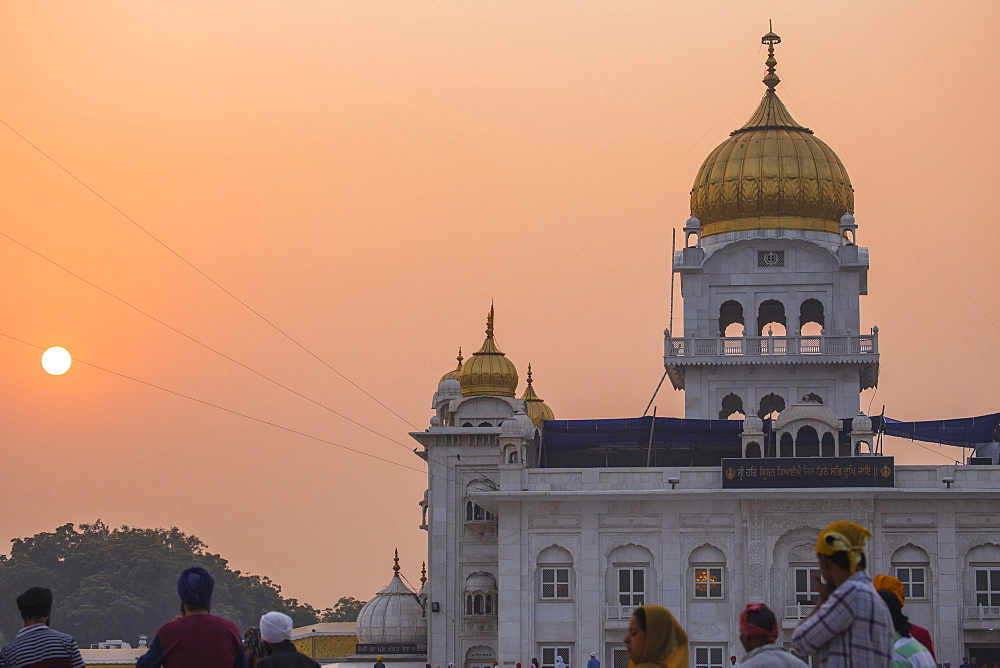 Gurdwara Bangla Sahib, a Sikh temple, New Delhi, Delhi, India, Asia - 1104-1043