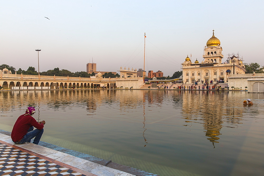 Gurdwara Bangla Sahib, a Sikh temple, New Delhi, Delhi, India, Asia - 1104-1052