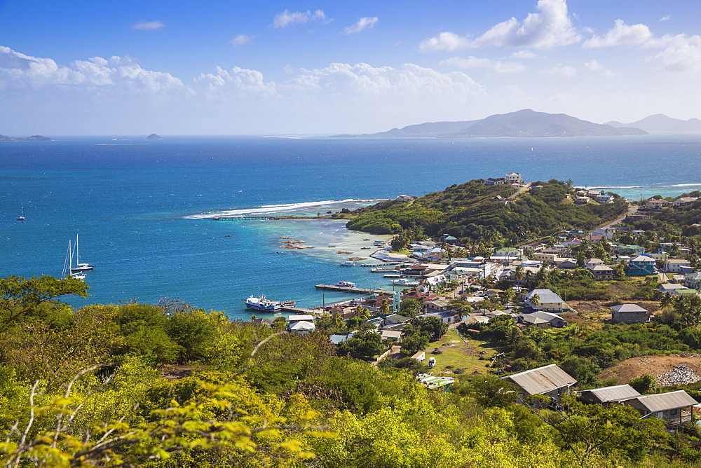 View of Clifton Harbour, Union Island, The Grenadines, St. Vincent and The Grenadines, West Indies, Caribbean, Central America