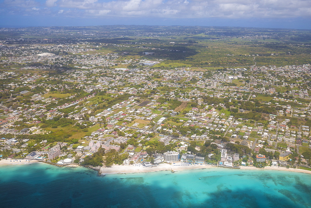 Aerial view of Barbados, Barbados, West Indies, Caribbean, Central America