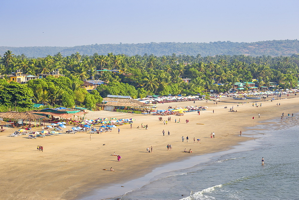 View of Arambol beach, Goa, India, Asia