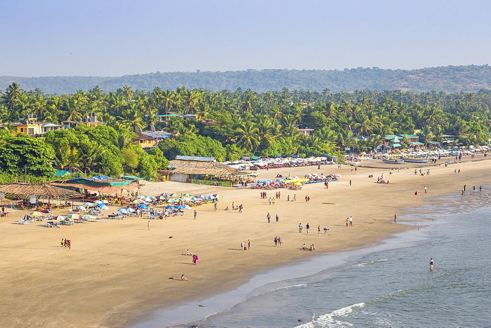 View of Arambol beach, Goa, India, Asia - 1104-1188