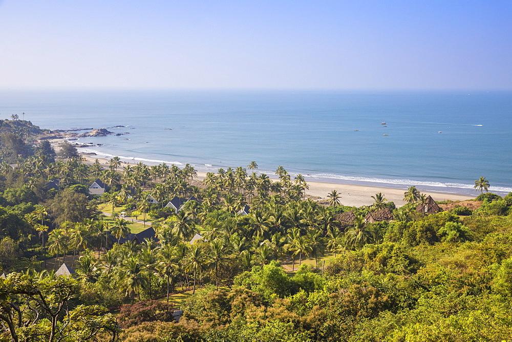 India, Goa, View of Vagator Beach - 1104-1192