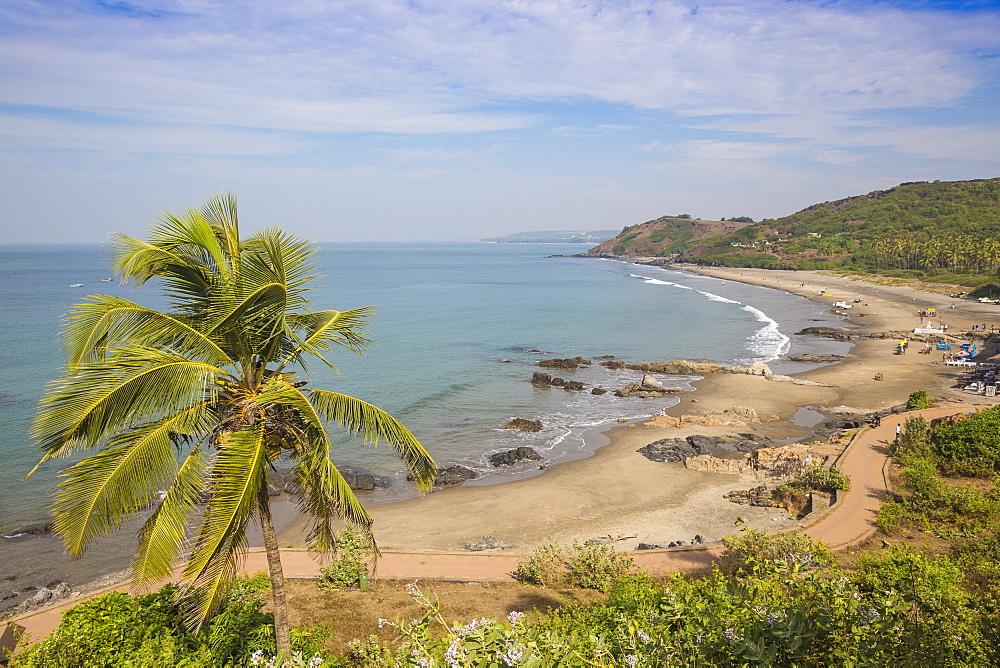 India, Goa, View of Vagator Beach - 1104-1195