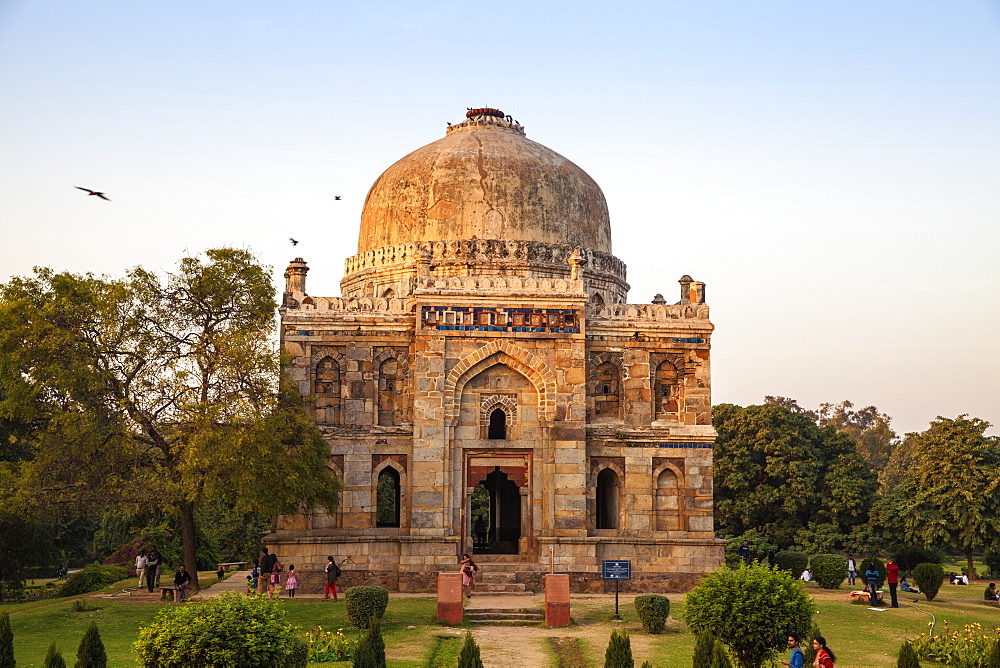 Shish Gumbad Tomb, Lodi Gardens, New Delhi, Delhi, India, Asia
