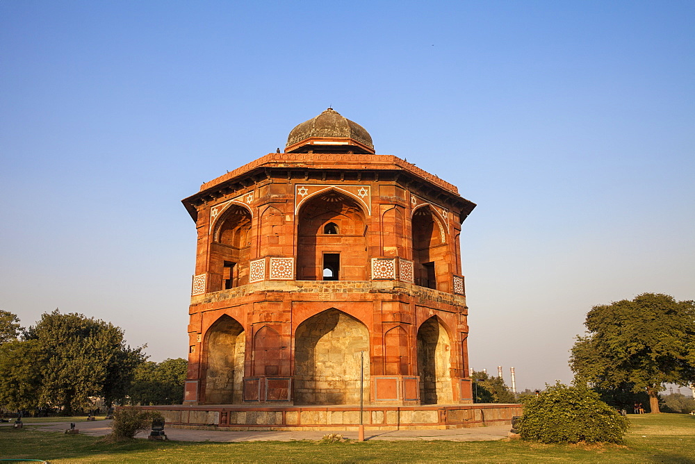 Sher Mandal tomb, Purana Quila, Old Fort, Delhi, India, Asia