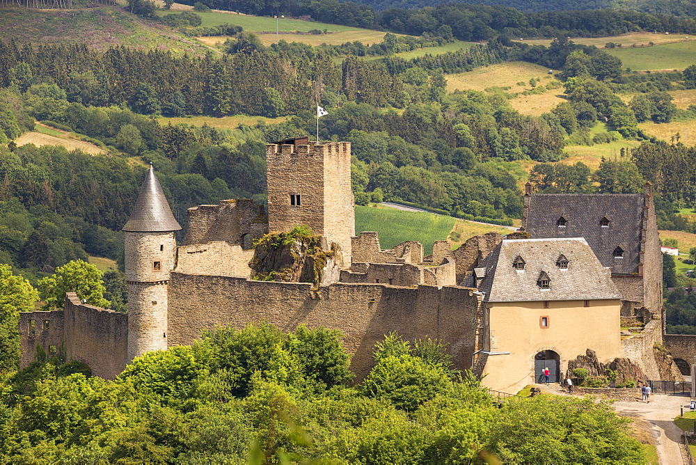 Bourscheid Castle, Bourscheid, Luxembourg, Europe