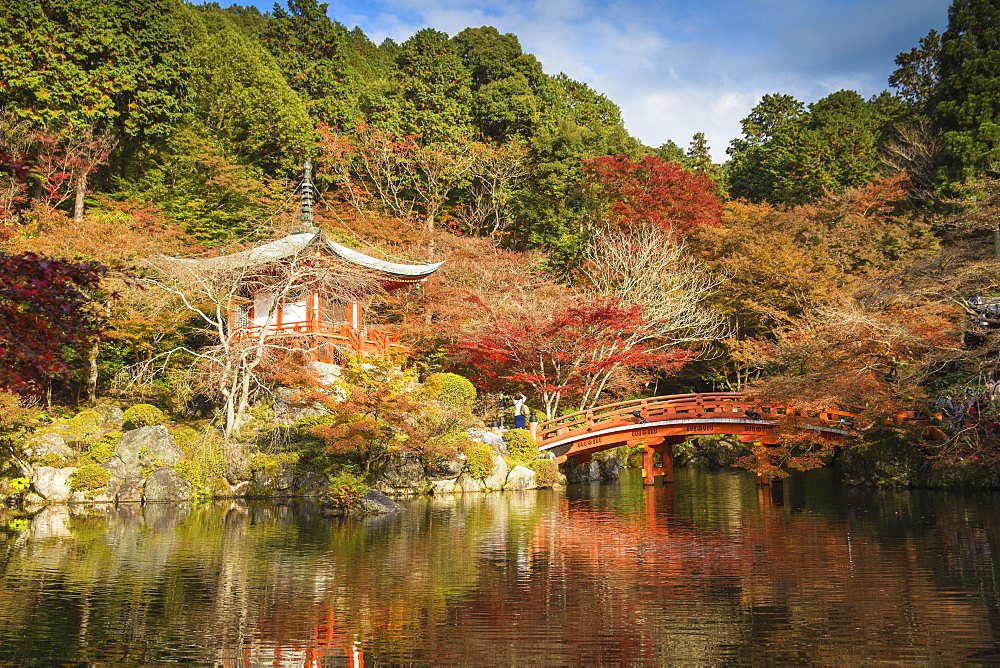 Japan, Kyoto, Daigoji Temple, Bentendo Hall - 1104-1290