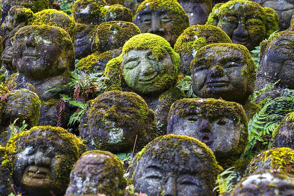 Japan, Kyoto, Arashiyama, Otagi Nenbutsu-ji Temple, Rakan (disciples of Shaka, the founder of Buddhism) Buddhist images - 1104-1302