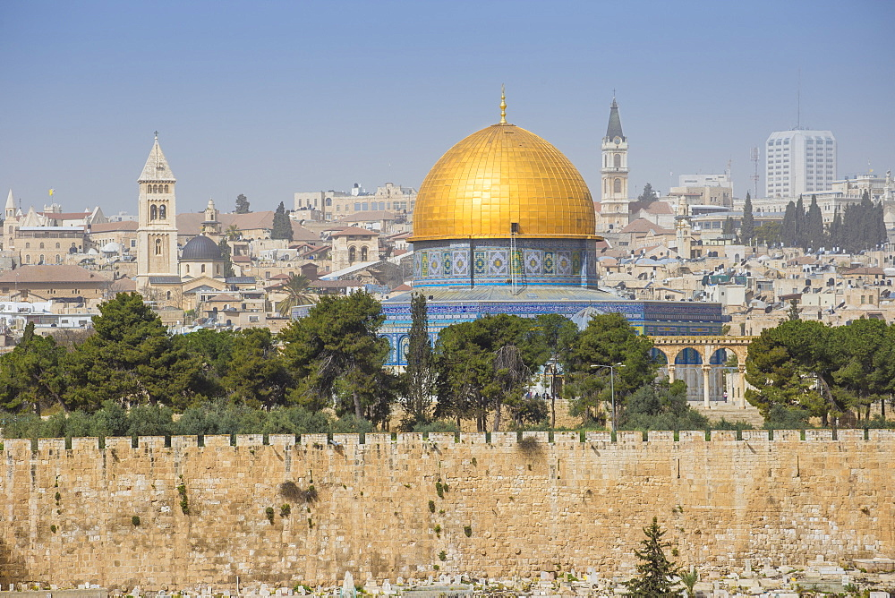 Israel, Jerusalem, View of Dome of the Rock