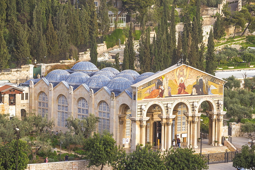 Church of All Nations (Church of the Agony) (Basilica of the Agony), Mount of Olives, Jerusalem, Israel, Middle East - 1104-1334