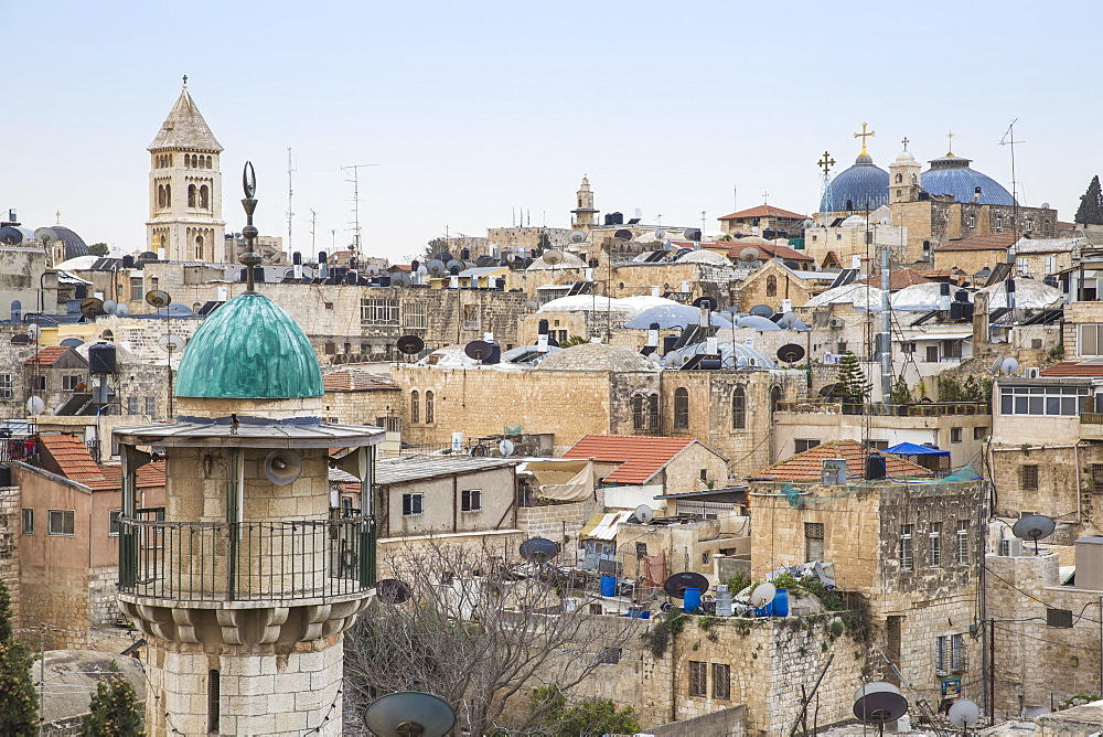 View of Muslim Quarter, Old City, UNESCO World Heritage Site, Jerusalem, Israel, Middle East - 1104-1340