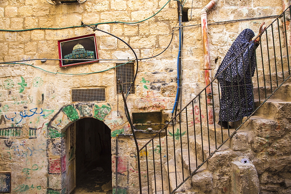 Muslim Quarter, Old City, UNESCO World Heritage Site, Jerusalem, Israel, Middle East