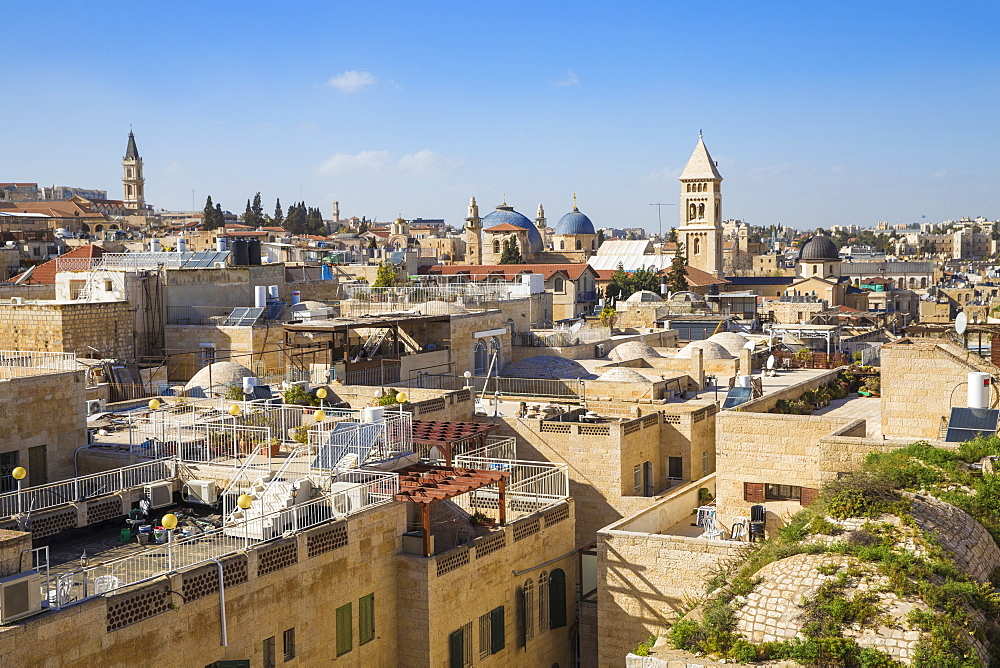 View of Jewish quarter, Old City, UNESCO World Heritage Site, Jerusalem, Israel, Middle East - 1104-1345