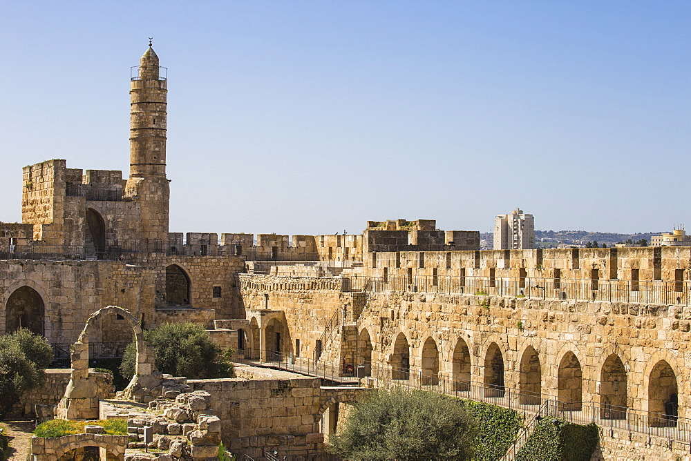 Israel, Jerusalem, Old Town, The Tower of David also known as the Jerusalem Citadel - 1104-1348