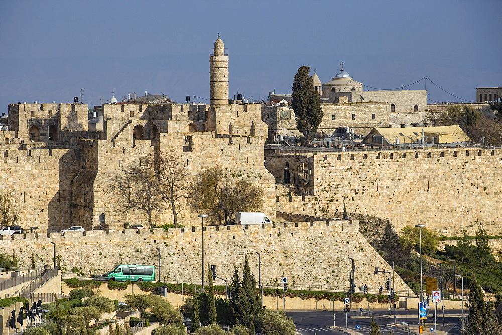 View of Jaffa Gate, Old City, UNESCO World Heritage Site, Jerusalem, Israel, Middle East - 1104-1355