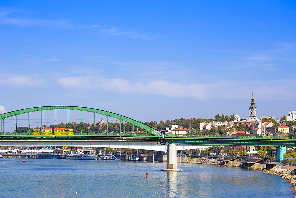 Stari Savski Most (Old Sava Bridge) over Sava River, Belgrade, Serbia, Europe
