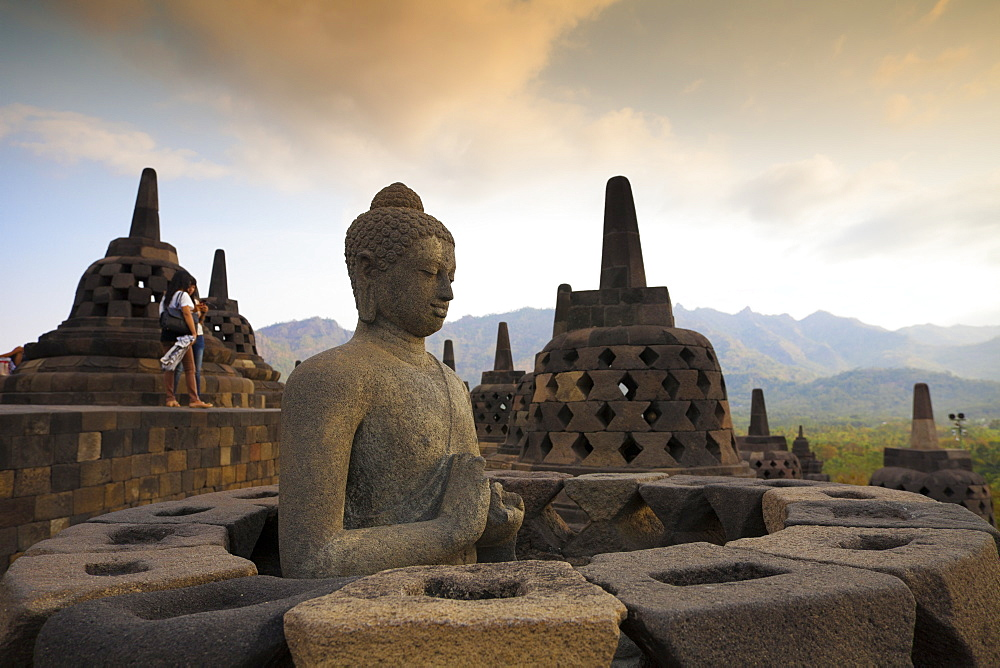 Borobudur Temple, UNESCO World Heritage Site, Magelang, Java, Indonesia, Southeast Asia, Asia - 1104-1386