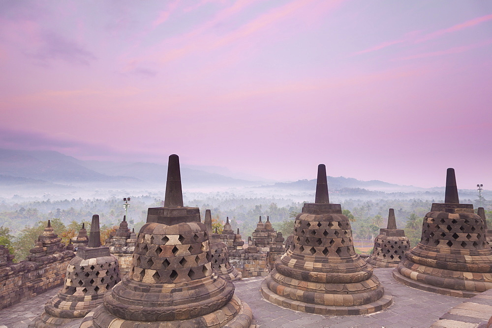 Borobudur Temple, UNESCO World Heritage Site, Magelang, Java, Indonesia, Southeast Asia, Asia - 1104-1388
