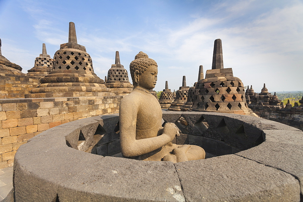 Borobudur Temple, UNESCO World Heritage Site, Magelang, Java, Indonesia, Southeast Asia, Asia - 1104-1390