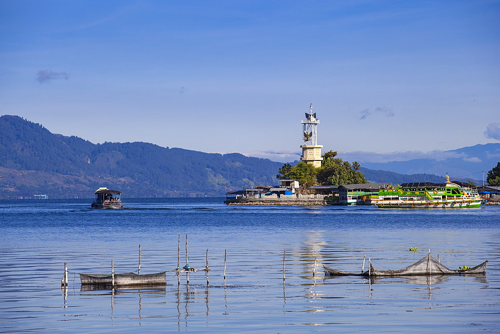 Lighthouse, Parapat, Lake Toba, Samosir Island, Sumatra, Indonesia, Southeast Asia, Asia