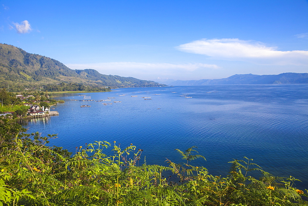 Lake Toba, looking towards Ambarita, Samosir Island, Sumatra, Indonesia, Southeast Asia, Asia