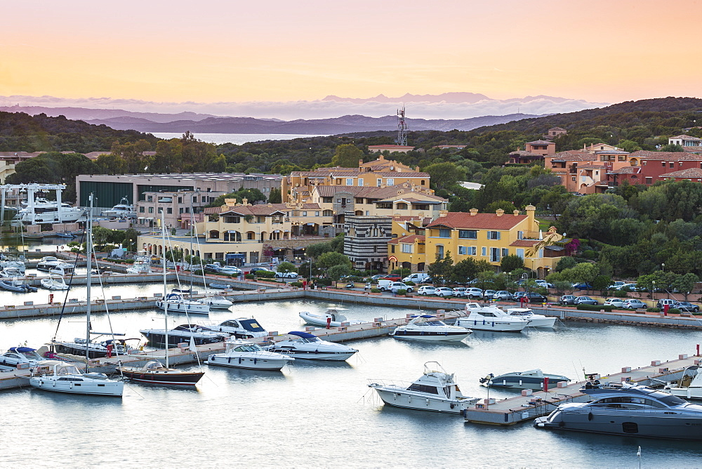 View of Marina, Porto Cervo, Costa Smeralda, Sassari Province, Sardinia, Italy, Mediterranean, Europe