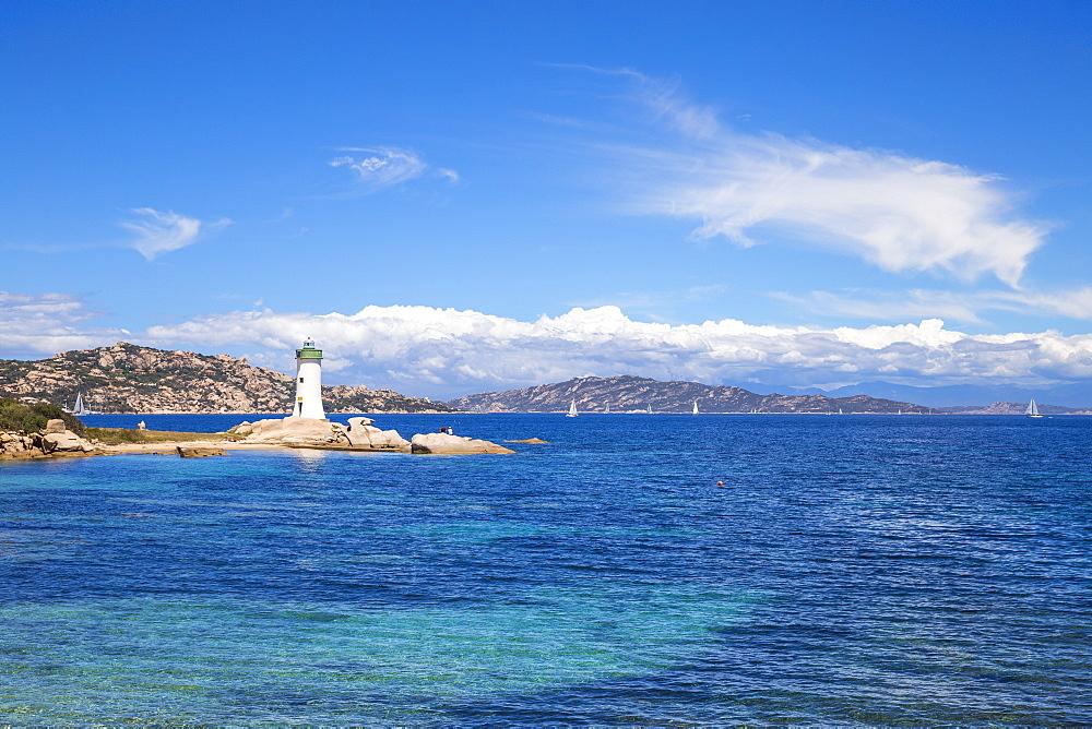 Porto Faro Lighthouse, Palau, Sardinia, Italy, Mediterranean, Europe