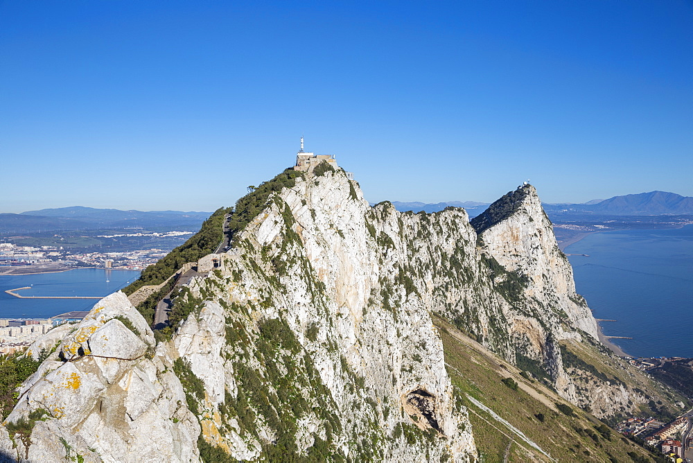 View of Gibraltar Rock, Gibraltar, Mediterranean, Europe