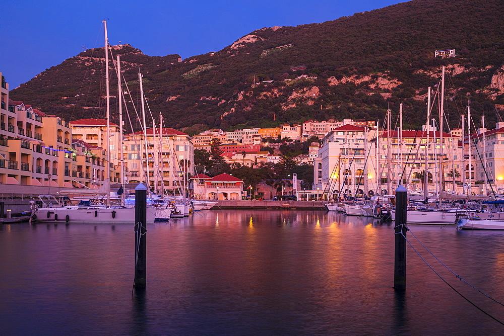 Queensway Quay marina, Gibraltar, Mediterranean, Europe
