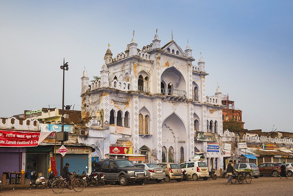 Ornate building opposite Chota Imambara, Lucknow, Uttar Pradesh, India, Asia