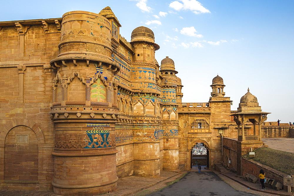 Elephant Gate (Hathiya Paur), Man Singh Palace, Gwalior Fort, Gwalior, Madhya Pradesh, India, Asia