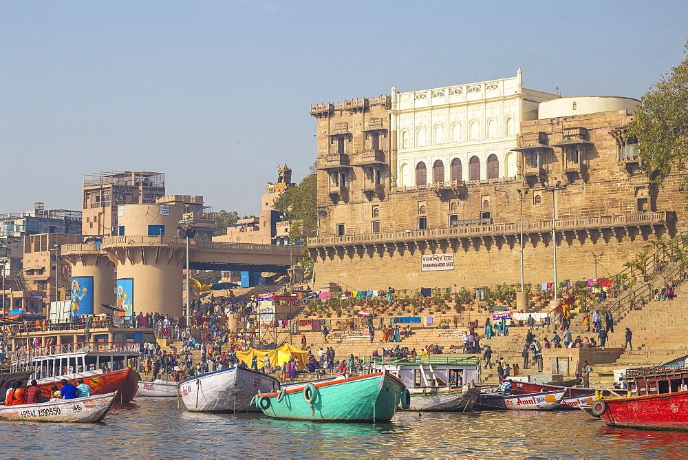 Manmandir Ghat, Varanasi, Uttar Pradesh, India, Asia