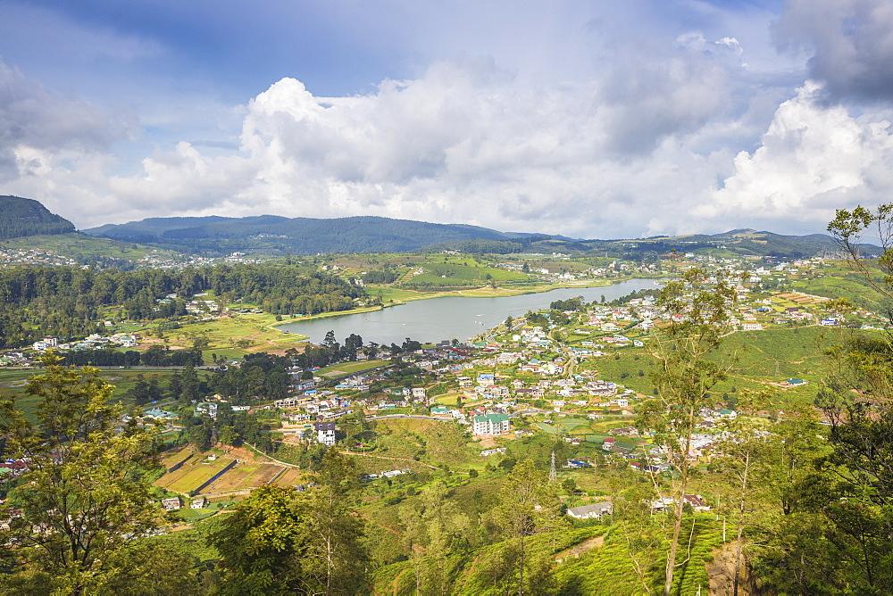 View of Gregory Lake, Nuwara Eliya, Central Province, Sri Lanka, Asia