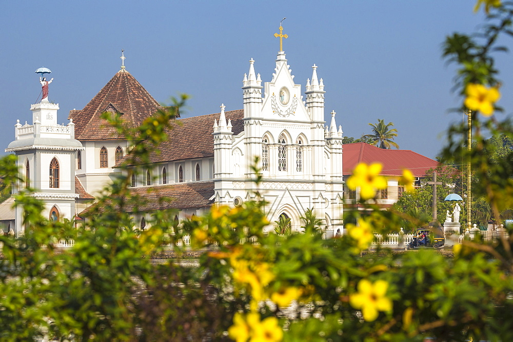 India, Kerala, Alappuzha (Alleppey), Backwaters, St. Mary Forane Church