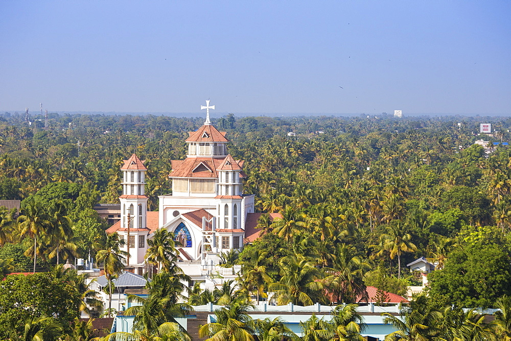 View of Infant Jesus Roman Catholic Latin Cathedral, Kollam, Kerala, India, Asia