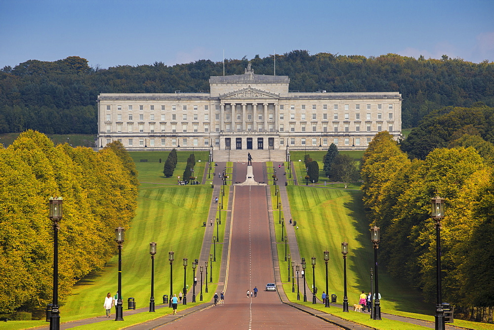 Stormont Parliament Buildings, Belfast, Ulster, Northern Ireland, United Kingdom, Europe - 1104-1811