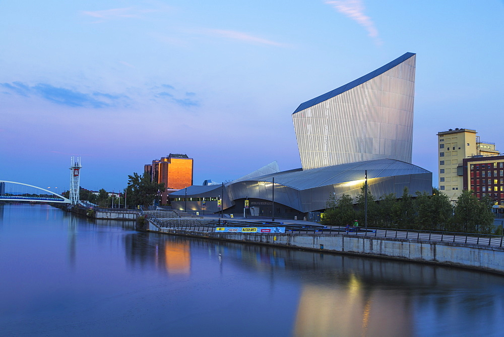 Imperial War Museum North, Salford Quays, Manchester, England, United Kingdom, Europe - 1104-1814